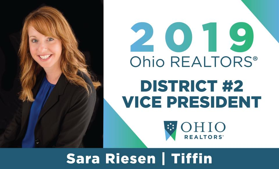 2019 Ohio REALTORS District #2 Vice President Sara Riesen